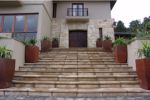 Sandstone colour paving slabs